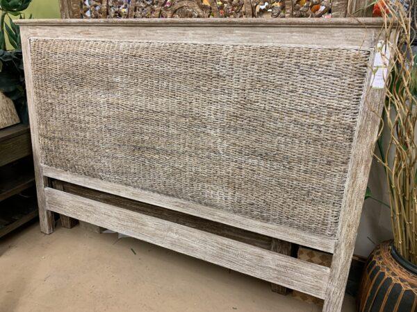Woven Headboard - White Wash