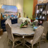 Scallop Flower Dining Room Table - Blue Wash