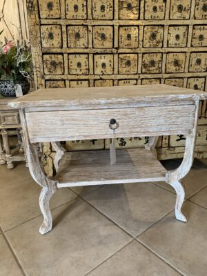 Love Side Table - White Wash