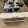 Fish Bench - 2-Seater - White Rub