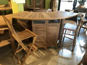 Teak Folding Bar Table
