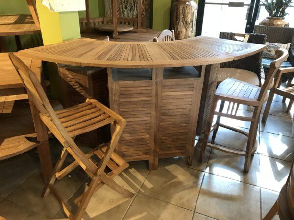 Teak Folding Bar Table