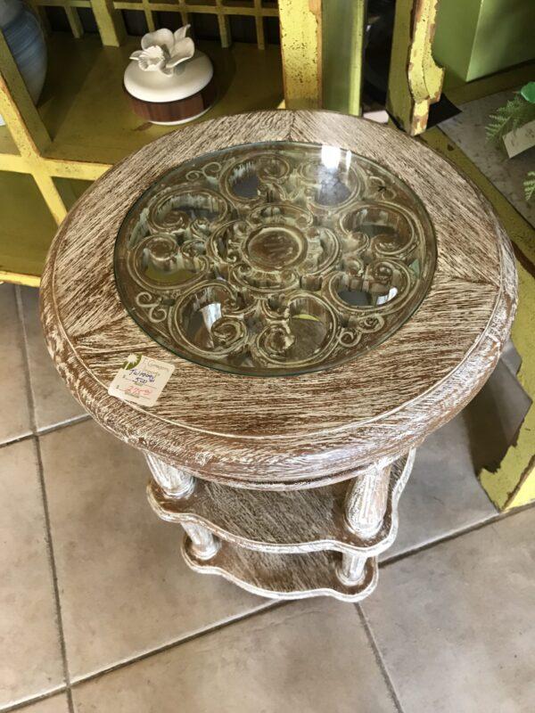 Caroline Side Table - White Wash
