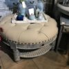 Ottoman with Cushion and Drawer - Grey