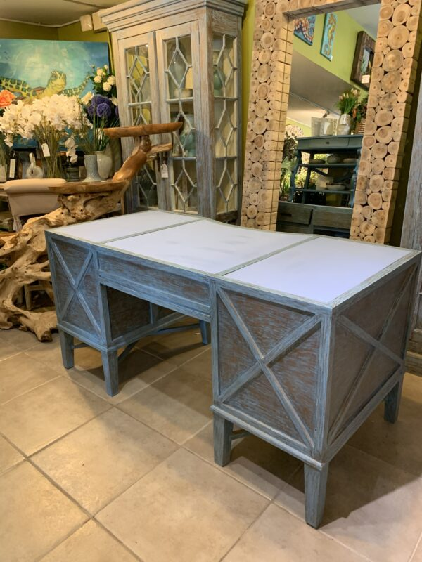 Sea Mist Desk - Blue Wash