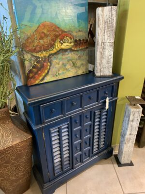 Small Crosby Chest - Blue Electric