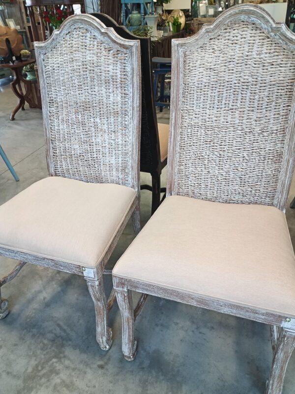 Batik Side Chair - White Wash