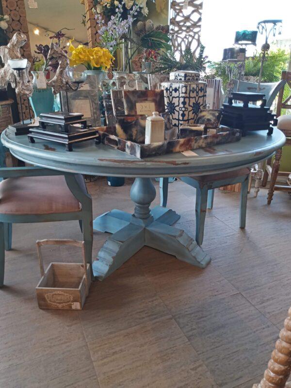 Ziad Table - 5ft - Ocean Blue