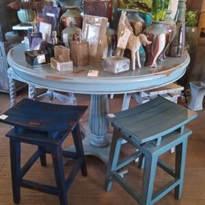 Dynamic Counter Height Dining Table - Ocean Blue