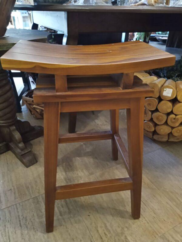 Saddle Counter Stool - Medium Brown