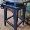 Saddle Counter Stool - Blue Electric