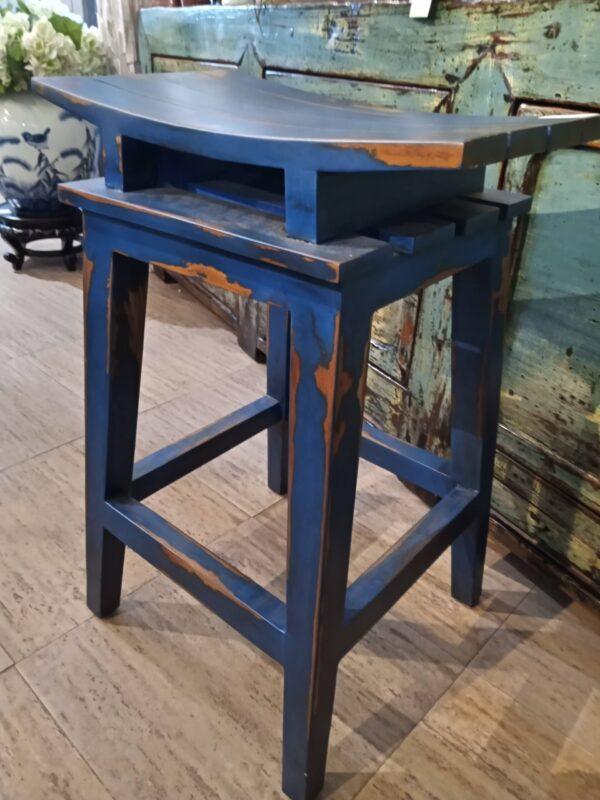 Saddle Counter Stool - Blue Electric