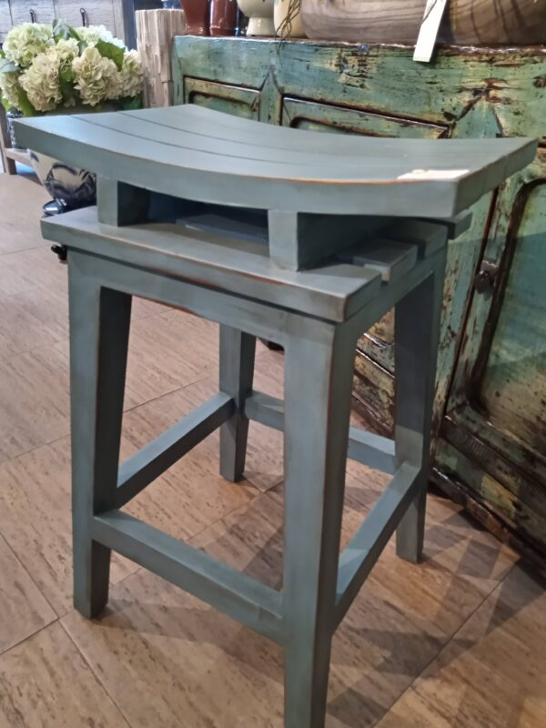 Saddle Counter Stool - Ocean Blue