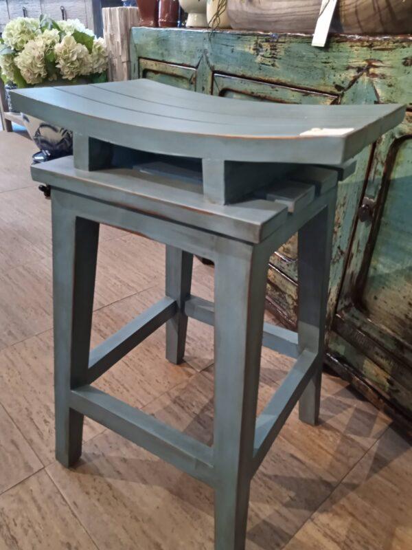 Saddle Counter Stool - Ocean Blue
