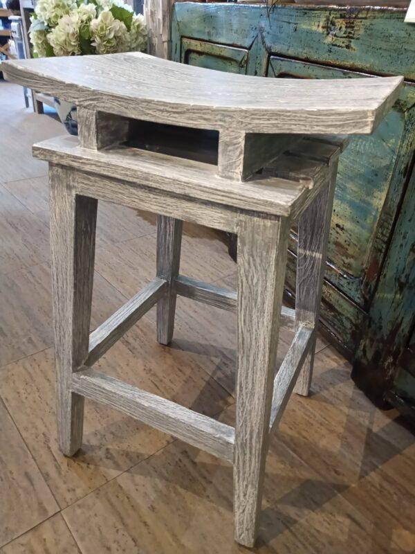 Saddle Counter Stool - Grey