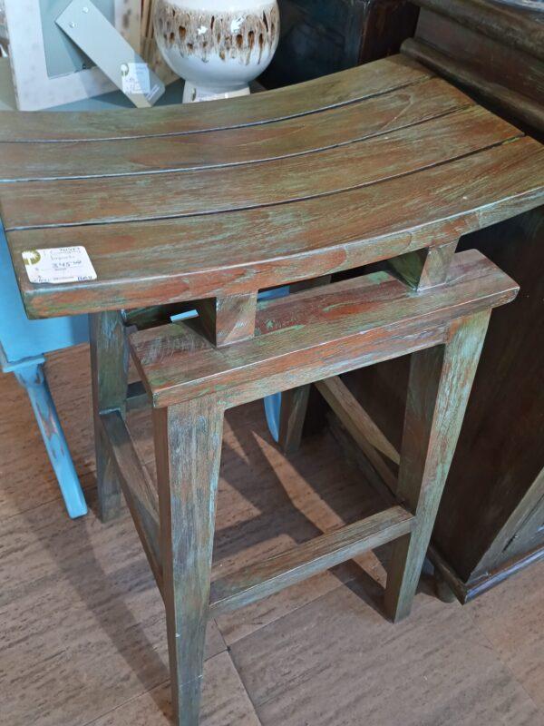 Saddle Bar Stool - Blue Green
