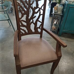 Teak Ranting Arm Chair - Black Rub