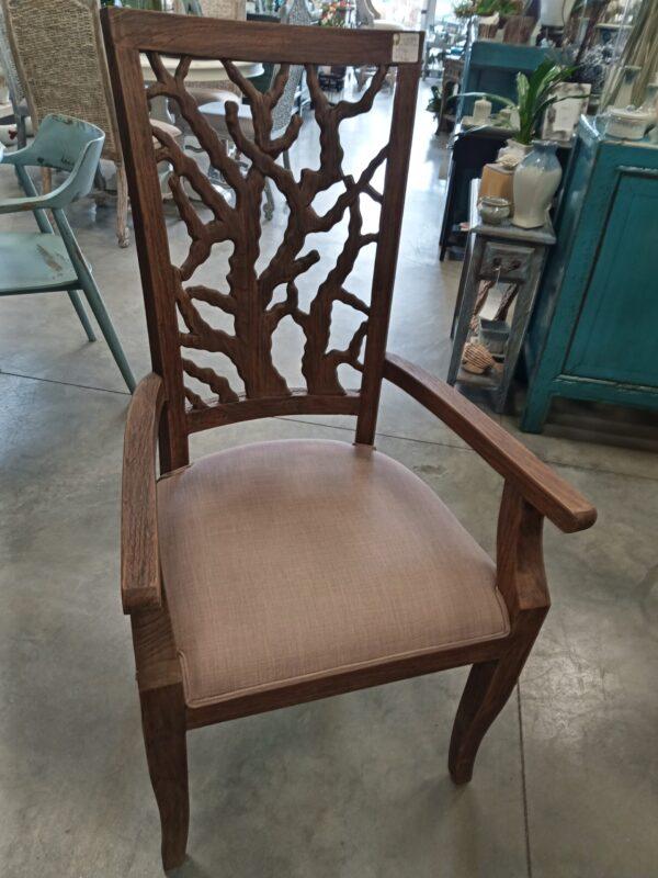Teak Ranting Arm Chair - Black Rub