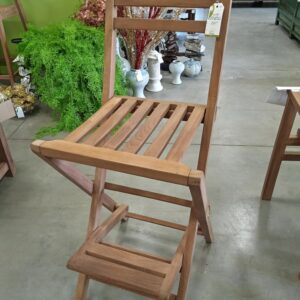 Teak Mexican Folding Bar Stool