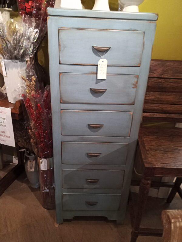 6 Drawer Cabinet - Ocean Blue