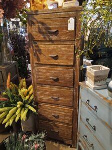 6 Drawer Cabinet - Pecan