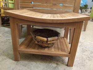 Teak Shower Stool