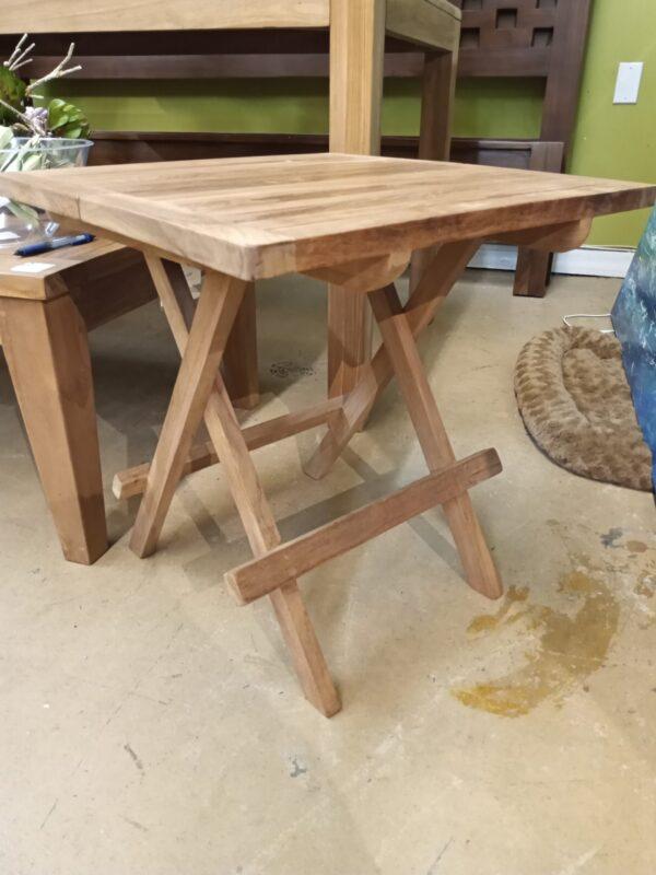 Teak Square Folding Side Table