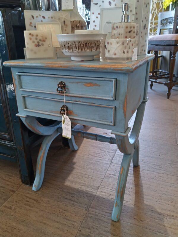 Canoli Side Table - Ocean Blue
