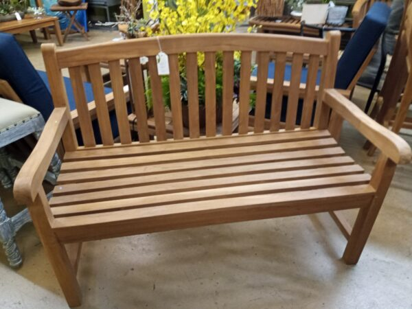 Teak English 2-Seater Bench