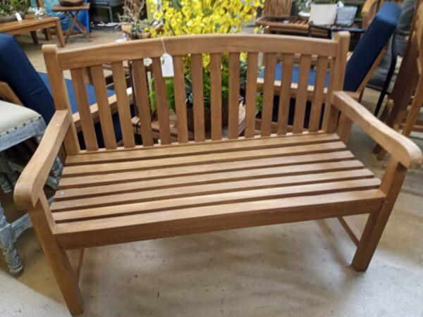 Teak English 2-Seater Bench
