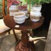 Pineapple Side Table - Medium Brown