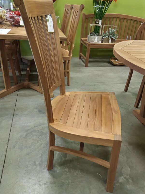 Teak Scroll Side Chair