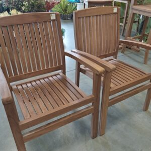 Teak Marley Stacking Arm Chair