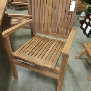 Teak Rice Stacking Arm Chair