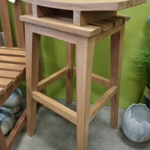 Teak Saddle Bar Stool