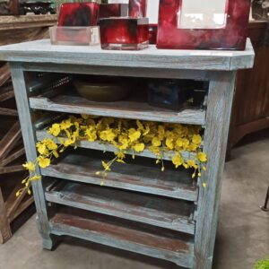 4-Shelf Side Table - Blue Wash