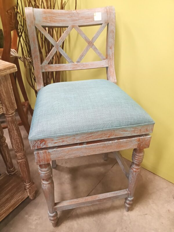 XX Swivel Counter Stool - Blue Wash