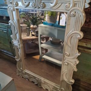 Brownstone Mirror - Celadon Green