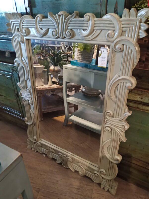 Brownstone Mirror - Celadon Green