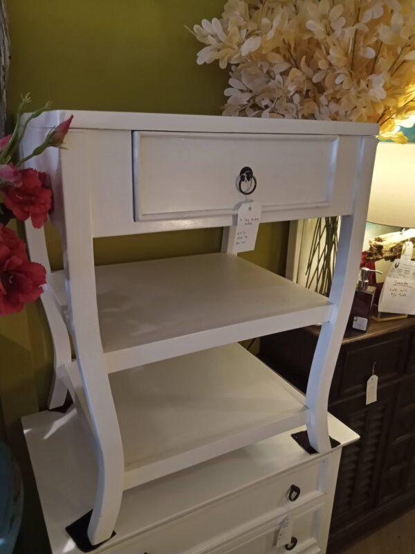 S-Leg Side Table - White