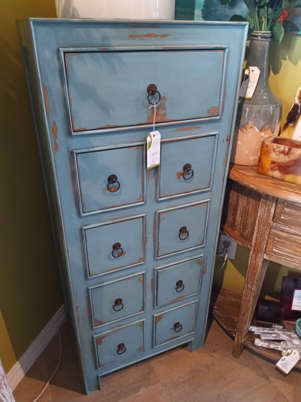 9-Drawer Chest - Ocean Blue
