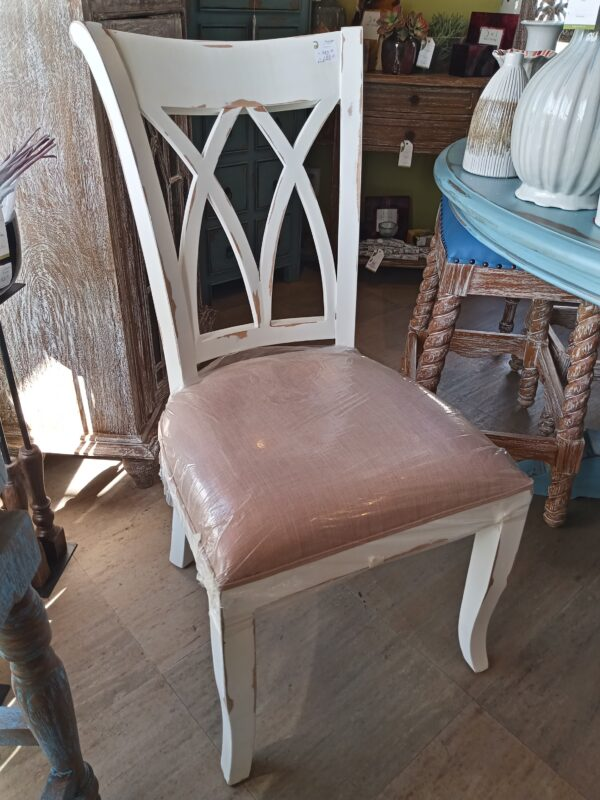 XX Side Dining Chair - White Rub