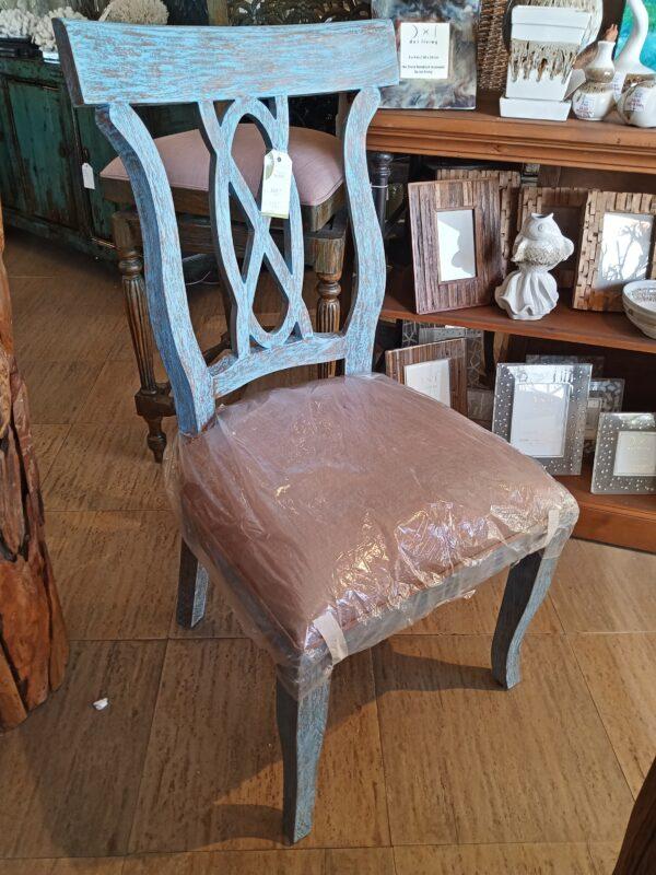 Ribbon Side Chair - Blue Wash