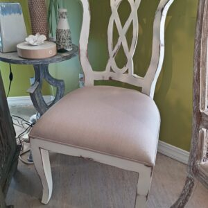 Ribbon Side Chair - White Rub