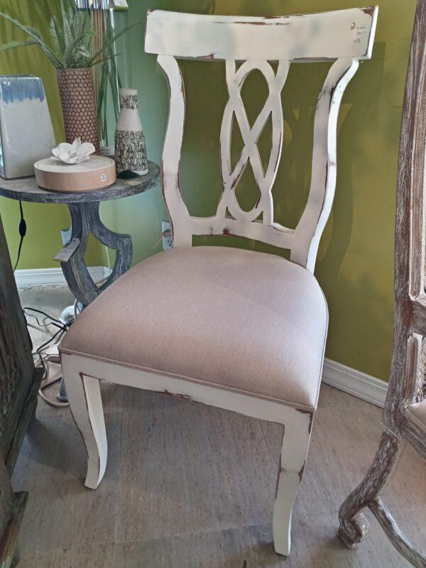 Ribbon Side Chair - White Rub