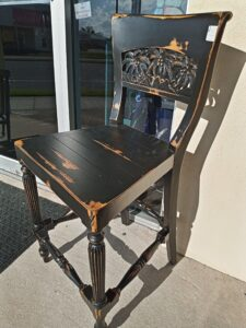 Palm Counter Stool - Black Electric