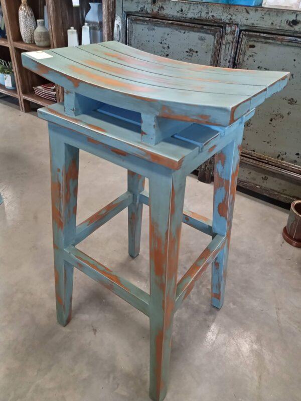 Saddle Bar Stool - Ocean Blue