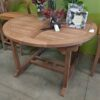 Melody Round Extension Teak Dining Table - 4ft - 6ft