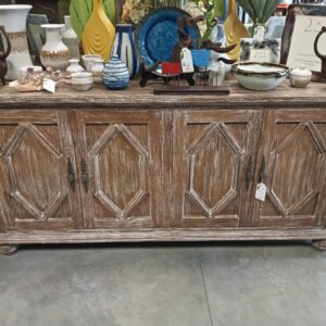 4-Door Sideboard - Pecan