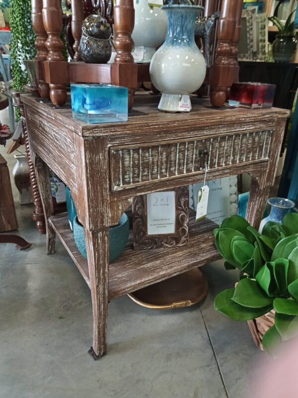 Lundy Side Table - Pecan